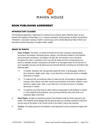 Publishing Contract Template. custom written music contracts. free ...
